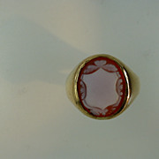 Ancient Sard Onyx Gold Signet Ring