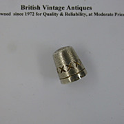 Solid Silver English Hallmarked Thimble