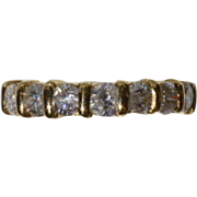 Grand Half Hoop 18k Diamond Ring