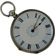 Charming Silver Antique Engraved Pocket Watch