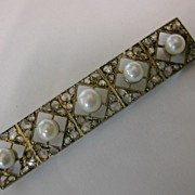 ENGLISH Rose Diamond & Pearl Brooch
