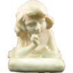 Italian Alabaster Girl Bust