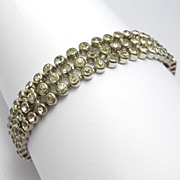 Art Deco Crystal Marked Czechoslovakia Line Bracelet
