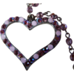 REDUCED ~ DIOR Open Heart Lined With Pink Sapphire-Colored Glass Beads