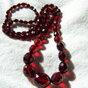 SALE REDUCED AGAIN ~ Most Handsome, Perfect Graduated Cherry Amber Necklace ~ 33 Inches Long