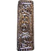 SALE REDUCED ~~800  Silver Articulate Repousse Butane Lighter Case ~ Vintage