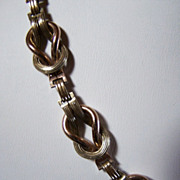 SALE REDUCED ~ 12K GF NECKLACE ~ Unique Double Double-Link Chain  ~ Circa 1930's