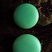 SALE REDUCED AGAIN  ~ Juicy Green Apple Vintage Button-Style Clip-Ons