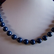 SALE REDUCED AGAIN ~ Necklace Of BlueBerries !!  Beads Look Just Like Wild Maine BlueBerries !