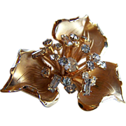 SALE REDUCED ~ LAMPL Trillium Brooch ~ 12 KT GF ~ Exquisite Signed Flower Brooch