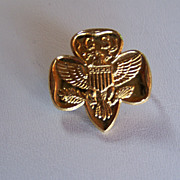 SALE REDUCED ~ Girl Scouts Brooch -  10K, Full EAGLE DESIGN ~ Vintage, C- Clasp, Possibly ...