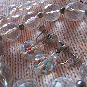 SALE SWAROVSKI Crystal Ball Full Parure ~ Drop-Dead Gorgeous Trio With Loads Of Vintage Class