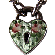 SALE Puffy Heart  LAMPL GUILLOCHE PADLOCK Charm ~ Sterling Silver ~ Finest On The Market ~ Out