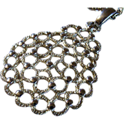 SALE Vintage 9KT Gold Plate Pear-Shaped HoneyComb Medallion & Stunning Necklace ~ 9KT Gold Pla