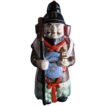 SAMURAI WARRIOR Porcelain Kamotsuru Sake' Decanter/Figurine ~ Vintage Hand Painted Japanese Finest Porcelain