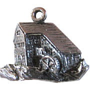 SALE OLD MILL & STREAM ~~ Vintage Charm ~~ Sterling Silver Charmer