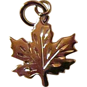 SALE Maple Leaf Charm Complete With Veins ~ Oh Canada !! JSC Sterling Silver Charm, UnUsed, Sh