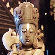 Chinese Jade Kwan Yin Of Justice, Ming Dynasty