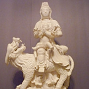 Superb Chinese De Hua Kwan Yin, Blanc de Chine 22&quot;