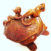 Chinese Jade Turtle Dragon, Qing Dynasty 玉龟龙,清朝