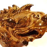 Superb Chinese Jade Dragon, Han Dynasty