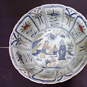 Chinese Doucai Porcelain Picture Bowl, Ming Era