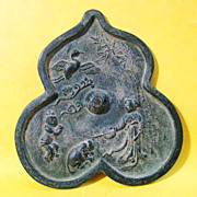 Chinese Bronze Mirror, Late Ming or Early Qing Dynasty