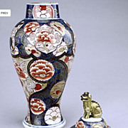 Chinese Imari Lidded Jar, 18th Century, Qianlong Period