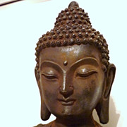 Chinese Ming Dynasty Iron Buddha, 1368- 1644