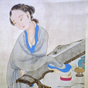 Chinese Painting By Hu Xilu, Peking Opera, 1827-1890, Signed