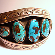 Navajo Sterling Silver & Turquoise Bracelet