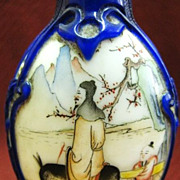 Chinese Peking Glass Snuff Bottle, Zhang Guo Lao, Signed