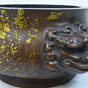 Chinese Bronze Dragon Incense Burner, Ming Dynasty, Signed