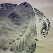 Japanese Falcon, Signed Painting, 18th - 19th Century