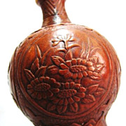 Chinese Carved Gourd Snuff Bottle, Mei, Lan, Zhu, Ju 梅,兰,竹&
