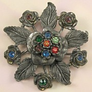 Little Nemo Pot Metal Multicolored Rhinestones Pin
