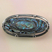 Sterling Silver Abalone Pin