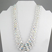 AB Cut Crystal Bead 2-strand Necklace
