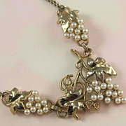 Faux Pearls Grapes Necklace