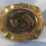 Victorian Gold Filled Hair Pin Engraved on Back Needs TLC