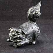 Chinese 17th Century Chinese Bronze Foo Lion Finial