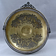 Victorian Aesthetic Movement Silver Plate Cake Basket by Simpson Hall Miller 1870 to 1880