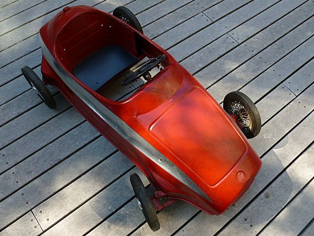 Red Ferrari Junior Racer Child's Toy Car ca.1950 Italy