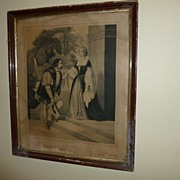 """Verliebt"" print of Romantic Couple from late 1800's Germany"