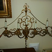 Impressive Seven Arm Electrified Wall Candelabra French Ca.1890's
