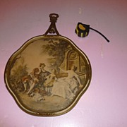 SALE Baroque Family Setting in Louis XV! Style Cameo Picture ca. 1890 France