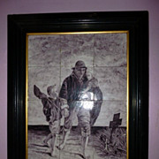 "SALE Monumental Dutch Tile ""J. Israels"" Special Frame"