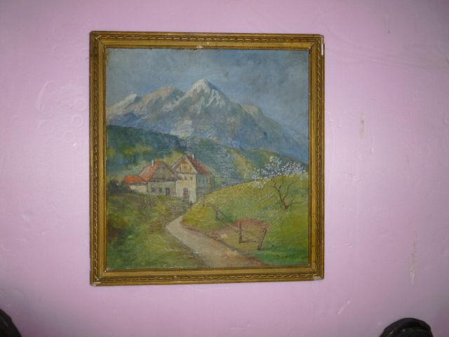 Signed Oil on Board  &quot;Alpine Paradise&quot; Germany