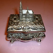 "SALE Gothic Style ""Koelner Dom"" Jewelry Musik Box Germany ca.1950's"
