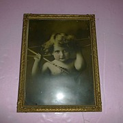 "SALE Large Advertising ""Cupid Awake"" Framed Copyright 1897"